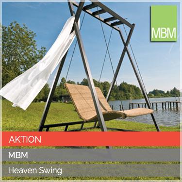 MBM Schwebeliege Heaven Swing Geflecht Twist Gestell Alu schwarz