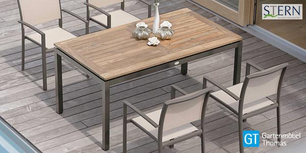 Aluminium Teakholz Tisch Campione | Essgruppen | Gartenmöbel