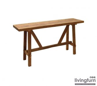 Livingfurn SILANG DK Sidetable 150x40x80cm Old Teak