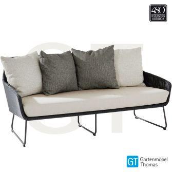 4Seasons AVILA Lounge 2,5-Sitzer Sofa Geflecht Anthrazit -