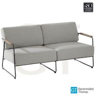 4Seasons COAST 2,5-Sitzer Sofa - Bezug Olefin Sandfarben - Edelstahl Anthrazit