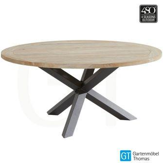 4Seasons LOUVRE Tisch 160cm rund - Gestell Alu Anthrazit -