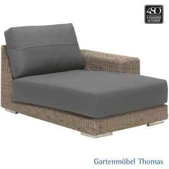 4Seasons KINGSTON Lounge Ottomane Armlehne links Geflecht +