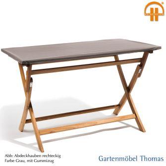 Schutzhülle/Abdeckhaube Tischplatte 220x90cm / Farbe Grau Atmungsaktiv Mit  Gummizug