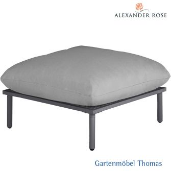 Alexander Rose BEACH LOUNGE Hocker - Alu grau - inkl. Kissen