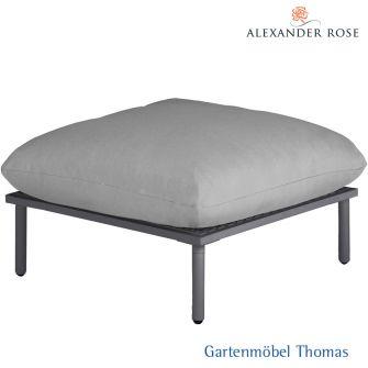 Alexander Rose BEACH LOUNGE Hocker - Alu grau - inkl. Kissen