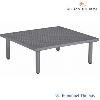 Alexander Rose BEACH LOUNGE Tisch 70x70cm - Alu grau - gelochte Alu Tischplatte