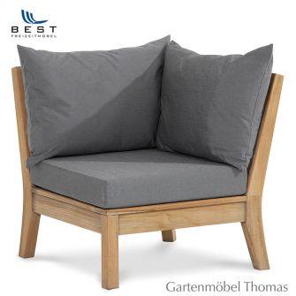 Best MORETTI Lounge Eckteil  inkl. Kissen Farbe Grau