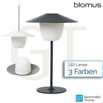 BLOMUS ANI LAMP Mobile LED-Leuchte - inkl. USB-Kabel, Ladestation und Seil