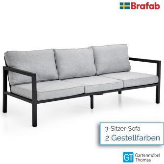 Brafab BELFORT 3-Sitzer Sofa - inkl. Sitz- Rückenkissen - Gestell Alu
