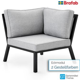 Brafab BELFORT Eckmodul - inkl. Sitz- Rückenkissen - Gestell Alu