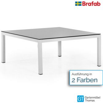 Brafab BELFORT Loungetisch 100x100cm - Gestell Alu - Tischplatte Glas