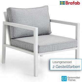 Brafab BELFORT Loungesessel - inkl. Sitz- Rückenkissen - Gestell Alu