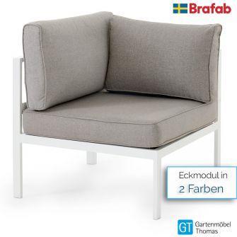 Brafab LEONE Eckmodul - inkl. Sitz- Rückenkissen - Gestell Alu