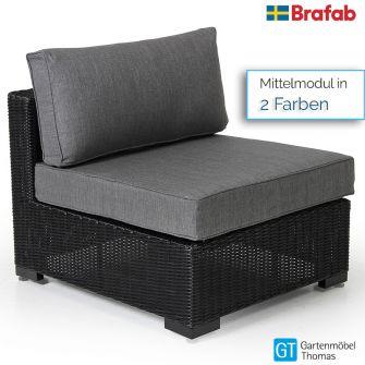 Brafab NINJA Mittelmodul - Geflecht - inkl. Sitz- Rückenkissen