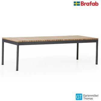 Brafab ZALONGO Loungetisch - Gestell Alu - Tischplatte Teakholz