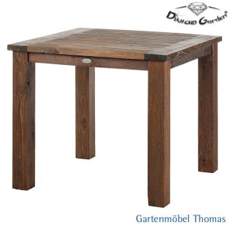 gartenm bel thomas diamond garden belmont teakholztisch 90x90 old teak gealtert hier online. Black Bedroom Furniture Sets. Home Design Ideas