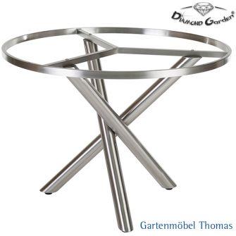 diamond garden san marino tischgestell rund 100 edelstahl online kaufen gartenm bel thomas. Black Bedroom Furniture Sets. Home Design Ideas