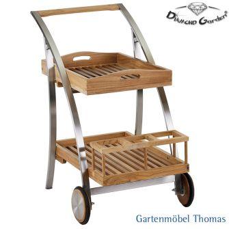 Diamond Garden TIVOLI Servierwagen Edelstahl - Teak