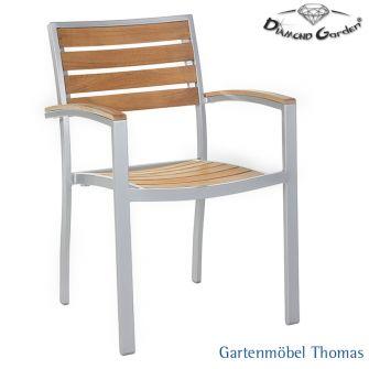 diamond garden monza stapelstuhl alu teak gartenm bel thomas. Black Bedroom Furniture Sets. Home Design Ideas