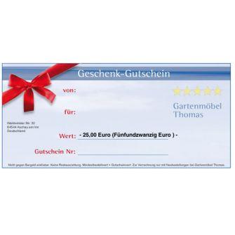 Geschenk-Gutschein über 25,oo Euro