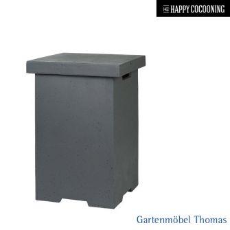 Happy Cocooning Gehäuse für Gastank Grau 41x41cm