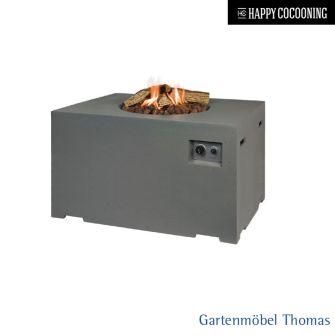 Happy Cocooning Feuertisch 107x80cm - Betonoptik Farbe Grau - Gasbetrieb