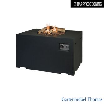 Happy Cocooning Feuertisch 107x80cm - Betonoptik Farbe Schwarz - Gasbetrieb