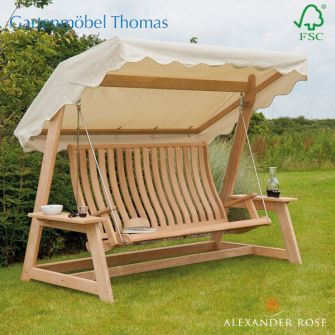 Alexander Rose HOLLYWOODSCHAUKEL mit Dach - Roble Holz
