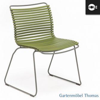 gartenm bel thomas houe click stuhl olivgr n gestell metall graphit dining no armrest. Black Bedroom Furniture Sets. Home Design Ideas