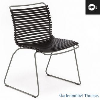 Gartenm bel thomas houe click stuhl schwarz gestell - Stuhl tom grau ...