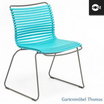 gartenm bel thomas houe click stuhl t rkis gestell metall graphit dining no armrest hier. Black Bedroom Furniture Sets. Home Design Ideas