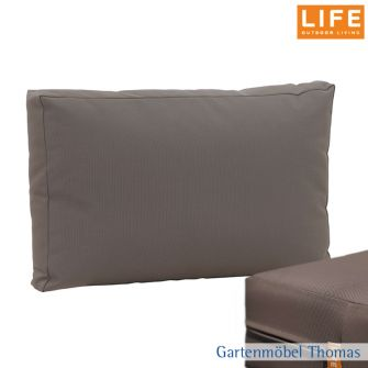 Life TIMBER/BLOCK Bank Rückenkissen AW - Farbe Taupe antirutsch Soft touch