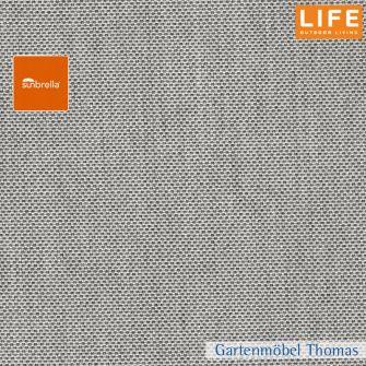 Life DEKOKISSEN 35x45cm mit Karo - Sunbrella natté grey chiné (hellgrau)