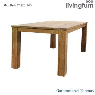 Livingfurn DT KUBUS Tisch 220x100cm Oldteak Indoor
