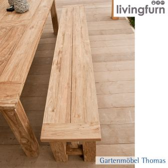 Livingfurn EVOY Bank 240x35x45cm Oldteak In/Outdoor