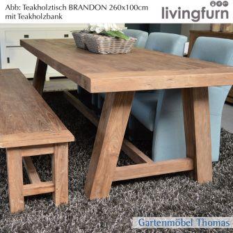 Livingfurn BRANDON DK Tisch 260x100cm - Indoor - Old-Teak
