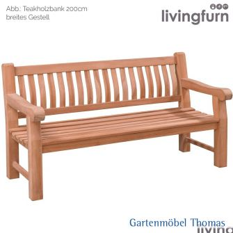 Livingfurn PATRICK FAT Bank 200x50cm Oldteak Outdoor