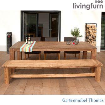 Livingfurn EVOY Bank 220x40x45cm Oldteak In/Outdoor