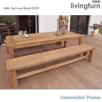 Livingfurn EVOY Bank 200x35x45cm Oldteak In/Outdoor