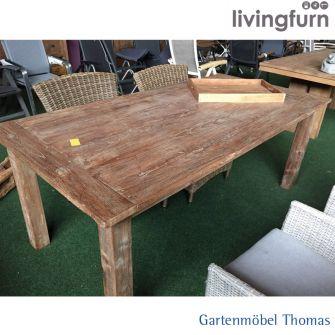 Livingfurn DK KOPLAT Tisch 80x80cm Oldteak Indoor