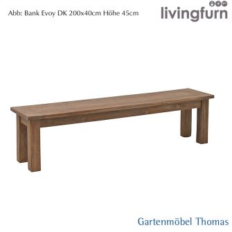 Livingfurn EVOY Bank 160x35x45cm Oldteak Outdoor