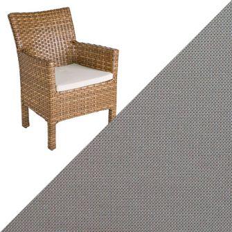 MBM BELLINI RONDO Sitzkissen Farbe Leinen braun