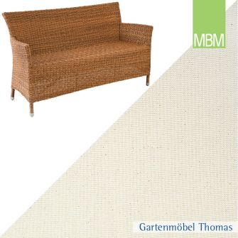 MBM BELLINI RONDO 2-Sitzer Sitzkissen uni natur
