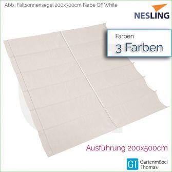 Nesling Faltsonnensegel COOLFIT 200x500 cm