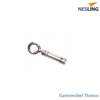 Nesling M8 Keilhülse Edelstahl mit Ringöse