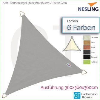 Nesling Sonnensegel COOLFIT Dreieck 3.6x360x360 cm