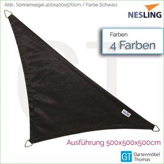 Nesling Sonnensegel COOLFIT Dreieck 90° 400x400x570 cm