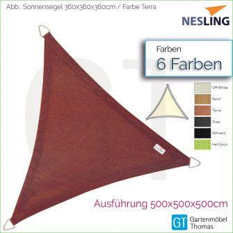 Nesling Sonnensegel COOLFIT Dreieck 500x500x500 cm