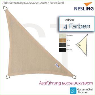 Nesling Sonnensegel COOLFIT Dreieck 90° 500x500x710 cm